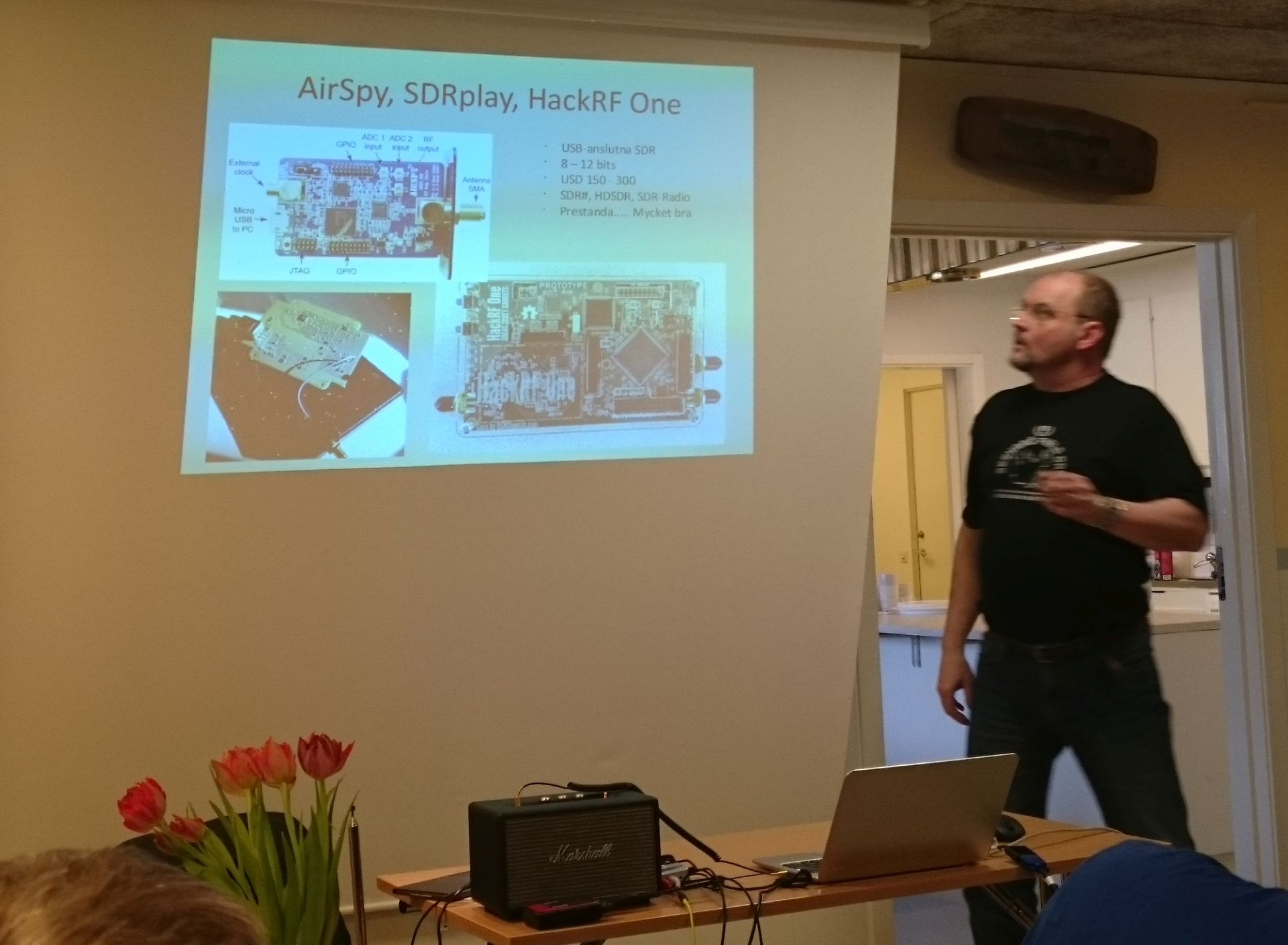 Tilman Thulesius presents different SDR receivers