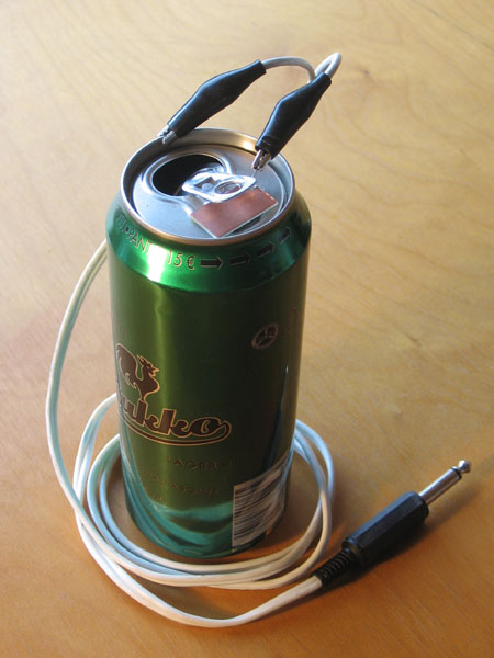 Beer can CW-key