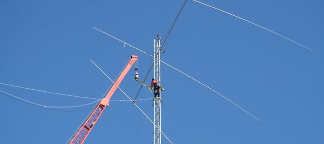 Taking down old 60m tower in Moskojärvi