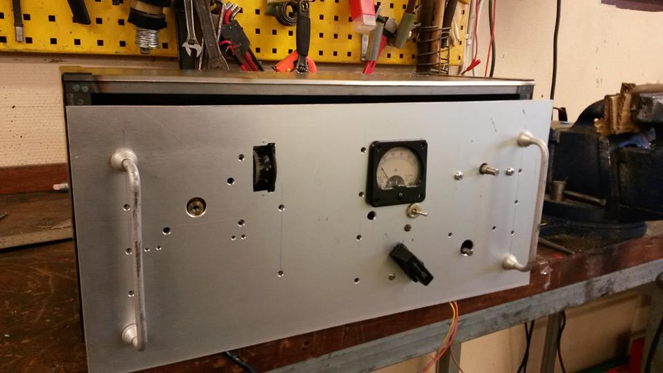 New front panel at SA2CLC homebrew TX
