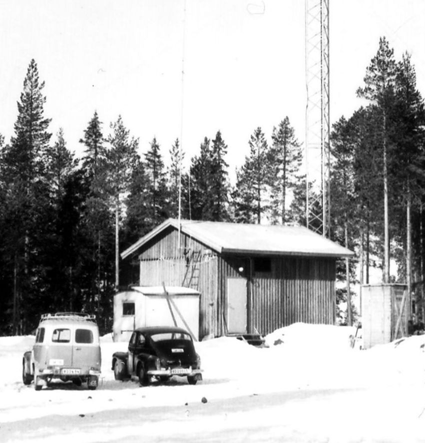 The first TV-station in Skellefteå 1960
